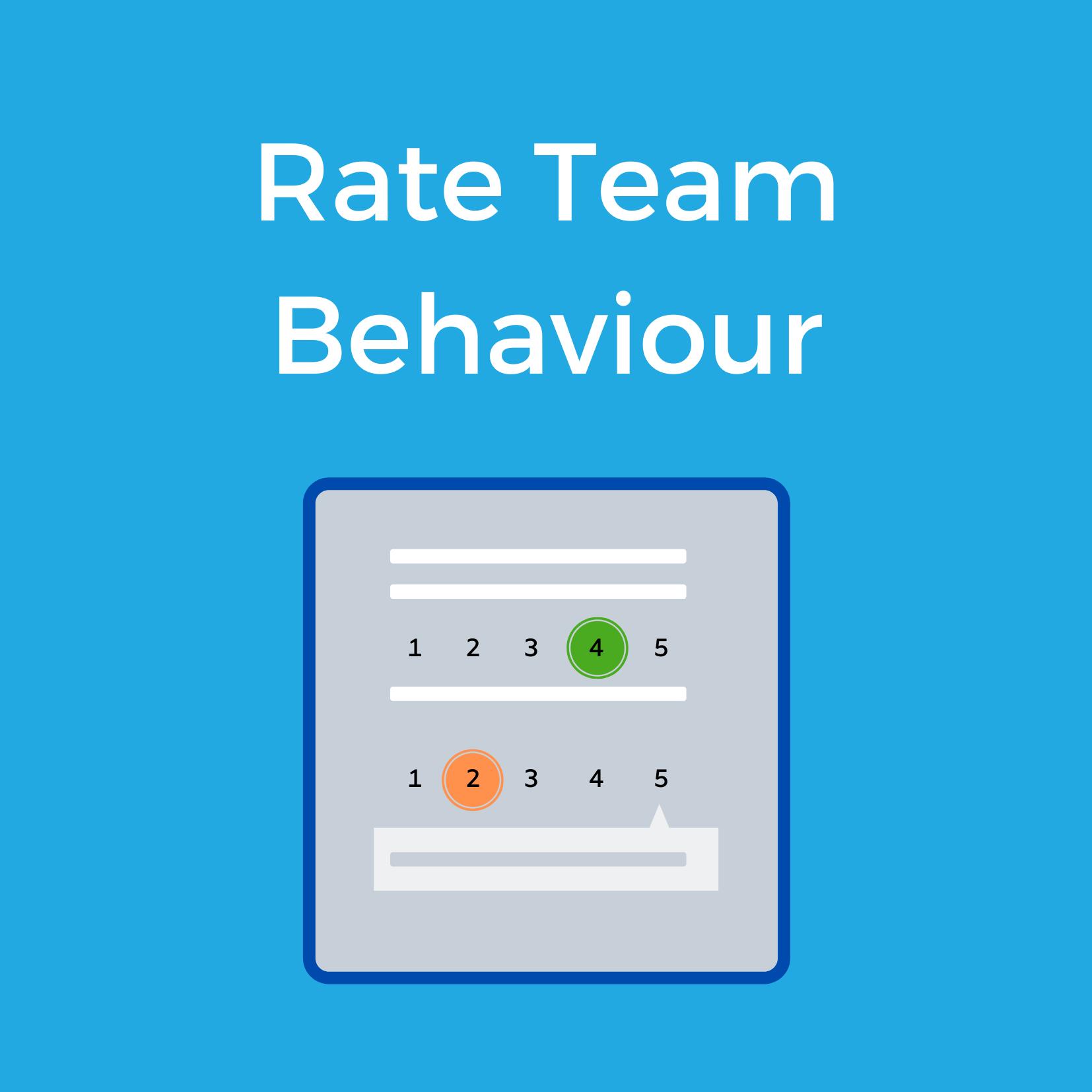 Rate Team Behaviour